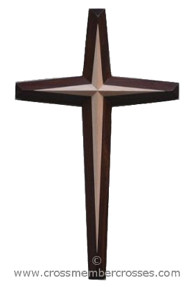 Two Layer Tapered Beveled Wooden Cross - 60""