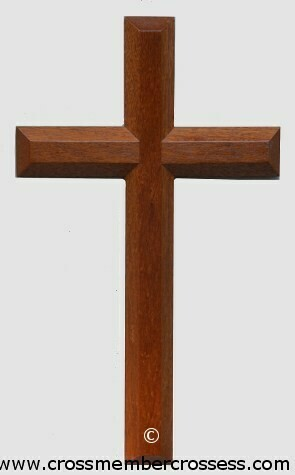 Edge Beveled Traditional Wooden Cross - 12""