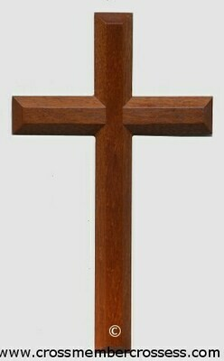 Edge Beveled Traditional Wooden Cross - 10