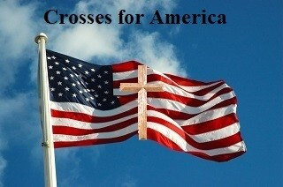Crosses For America  - Buy One Cross - Get Second Cross Free - 8 inch or 10 inch - Use this Coupon Code: Free Cross