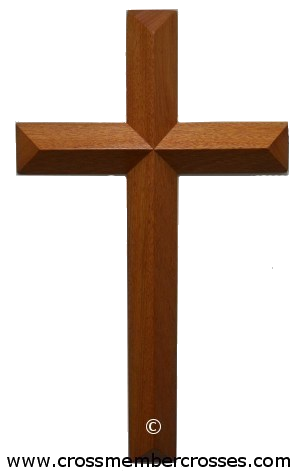 Single Layer Beveled Cross - 8""