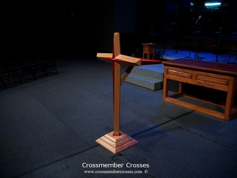 Two Layer Tapered Beveled Pulpit Cross