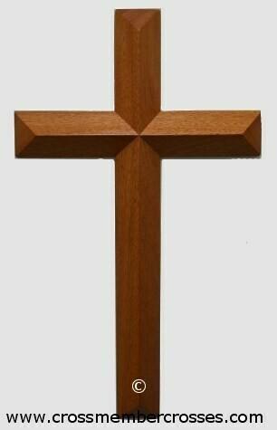 "Single Layer Beveled  Cross - 10"""