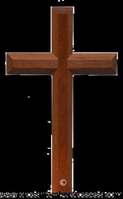 Edge Beveled Traditional Wooden Cross - 8