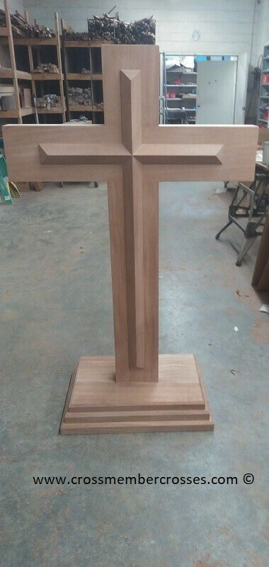 Thick  Wooden Beam Cross Pulpits