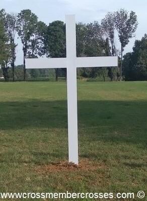 Inground Aluminum Crosses