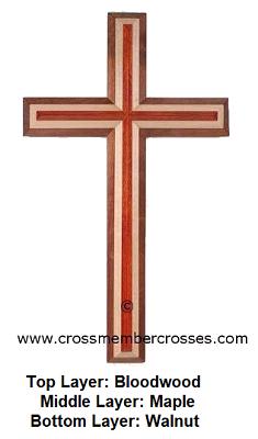 Three Layer Beveled Gift Crosses