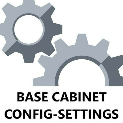 Base Cabinet Configuration Settings