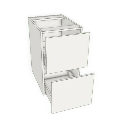 Base 2 Drawer unit -White Melamine (12
