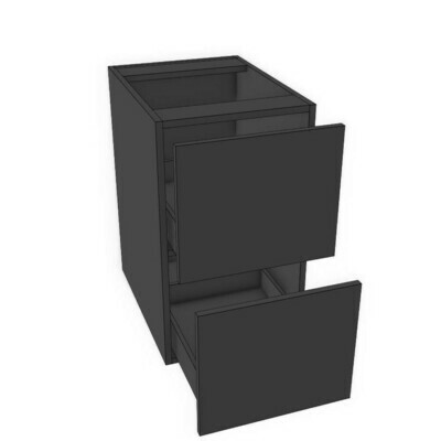 Base 2 Drawer unit -Black Melamine (12