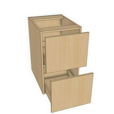 Base 2 Drawer unit -Maple Melamine (12