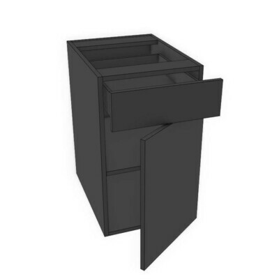 Drawer Over Door - Black Melamine (12