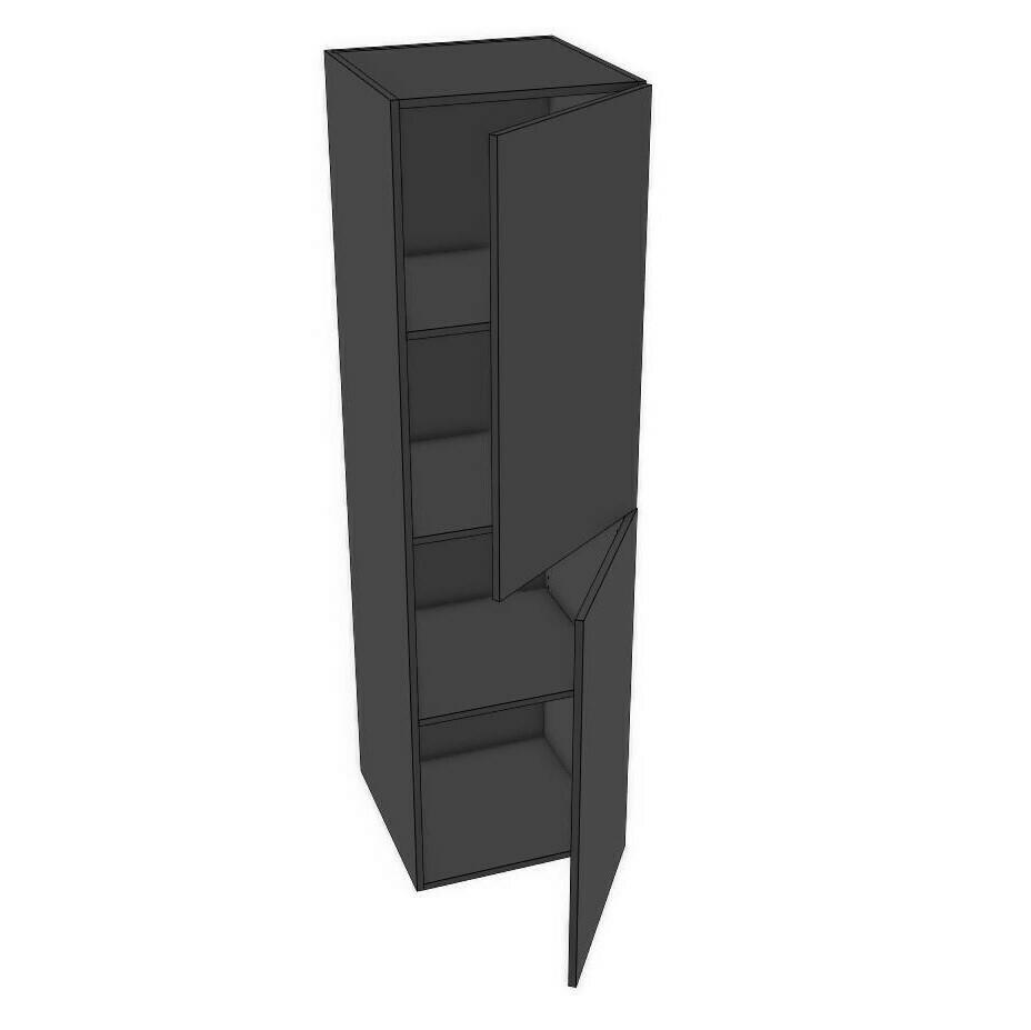 "Tall Cabinets - Black Melamine (12"" - 18"")"