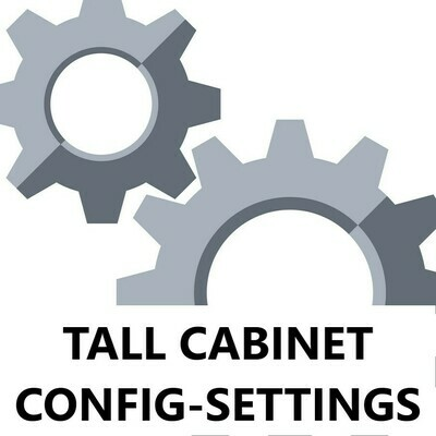 Tall Cabinet Configuration Settings