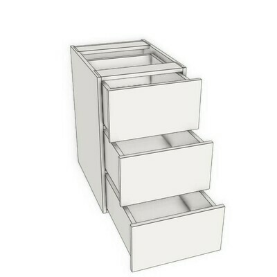 Base 3 Drawer unit -White Melamine (12