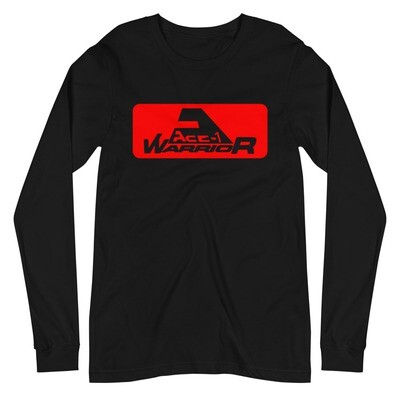 Unisex Long Sleeve Ace-1 Warrior Red Block with Logo