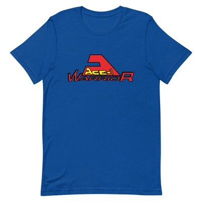 Red and Yellow Ace-1 Warrior Logo Shirt