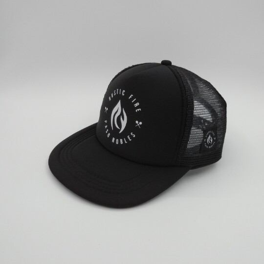 Black Foam Trucker, White Logo