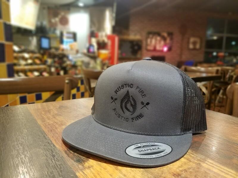 Grey Snapback Black Logo
