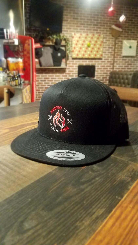 Black Snapback Red/Silver Logo
