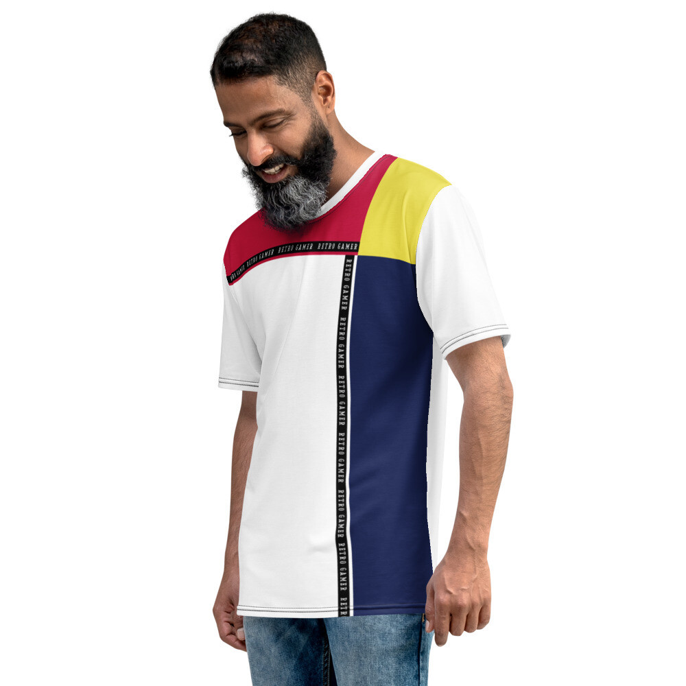 "Men's ""Retro Gamer"" Color Block T-shirt"