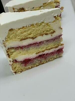 KETO Raspberry Vanilla cake