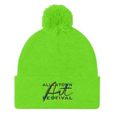 Allentown Art Festival Logo Embroidered - Pom Pom Knit Cap