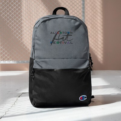 Allentown Art Festival Logo - Embroidered Champion Backpack