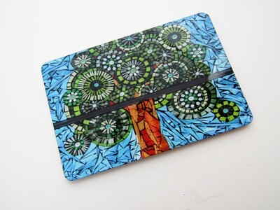 mosaic print magnets - rectangle