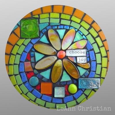 mosaic print coasters-choose joy