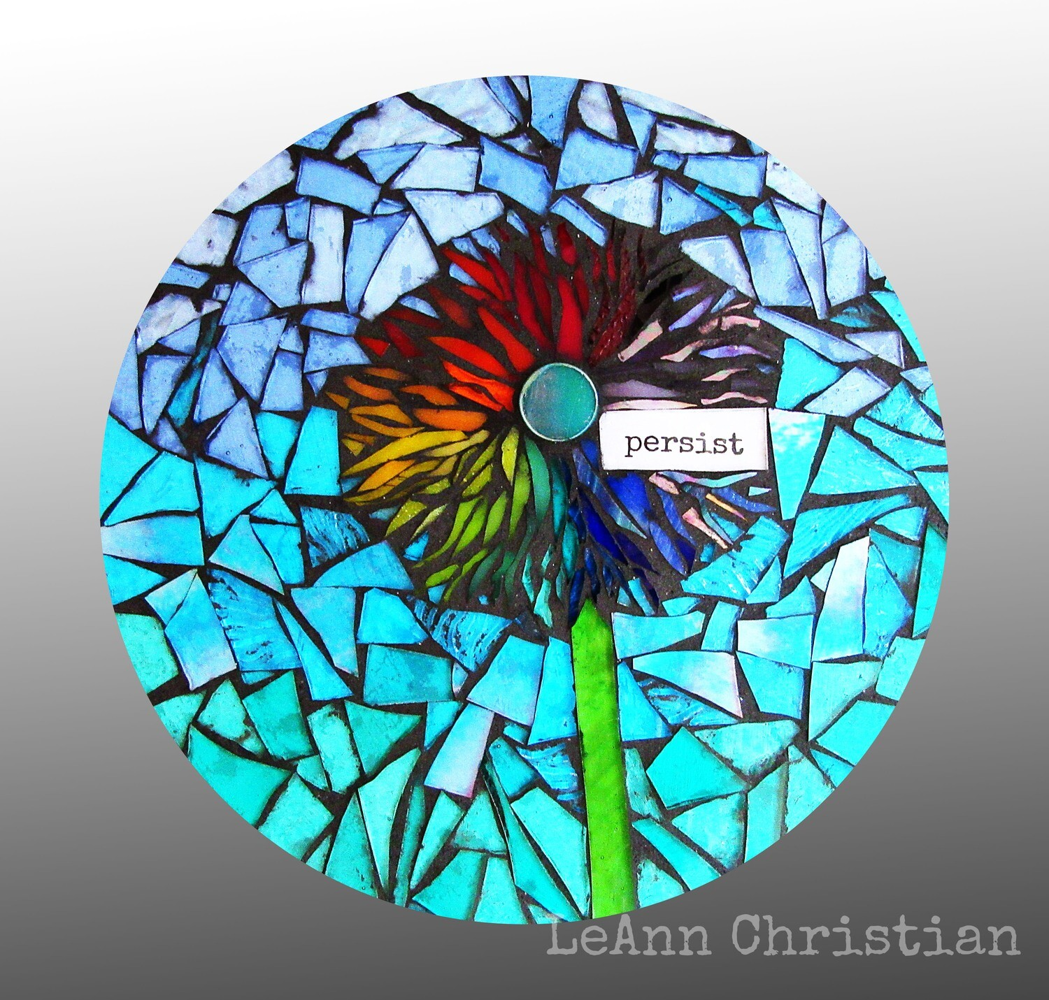 mosaic print glass cutting board-persist