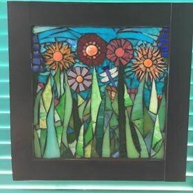 glass mosaic - garden