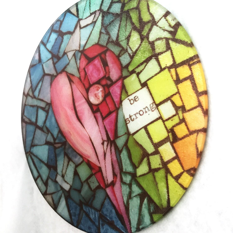 mosaic print glass cutting board