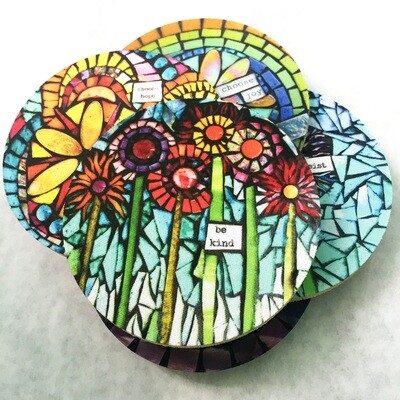 mosaic print coasters