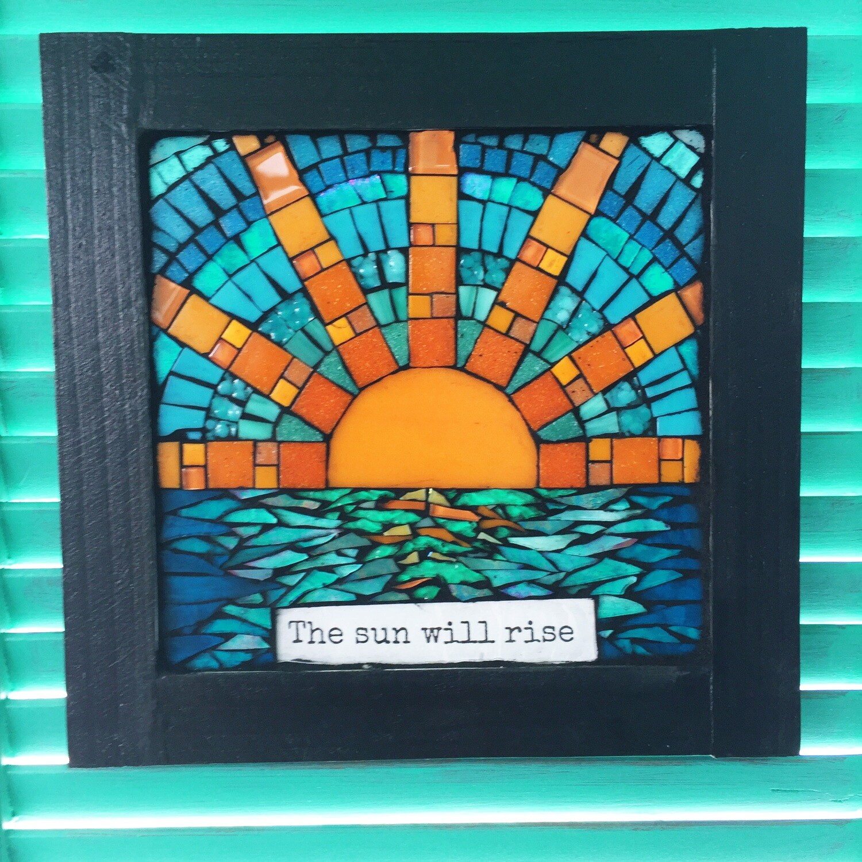 glass mosaic - the sun will rise