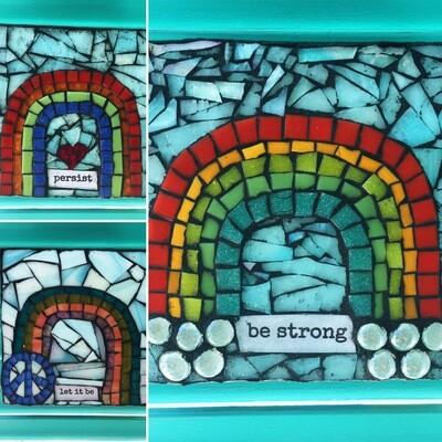 rainbow glass mosaics
