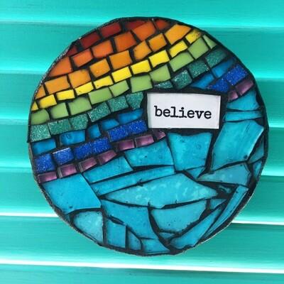 glass mosaic - believe