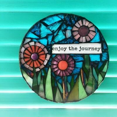 glass mosaics-enjoy the journey