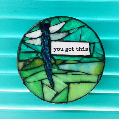 glass mosaic - you got this