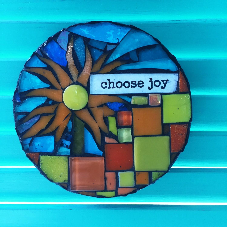 glass mosaic - choose joy