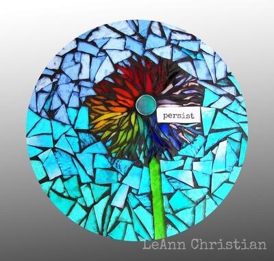 mosaic print magnets - round-persist