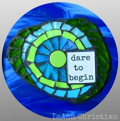 mosaic print magnets - round-dare to begin