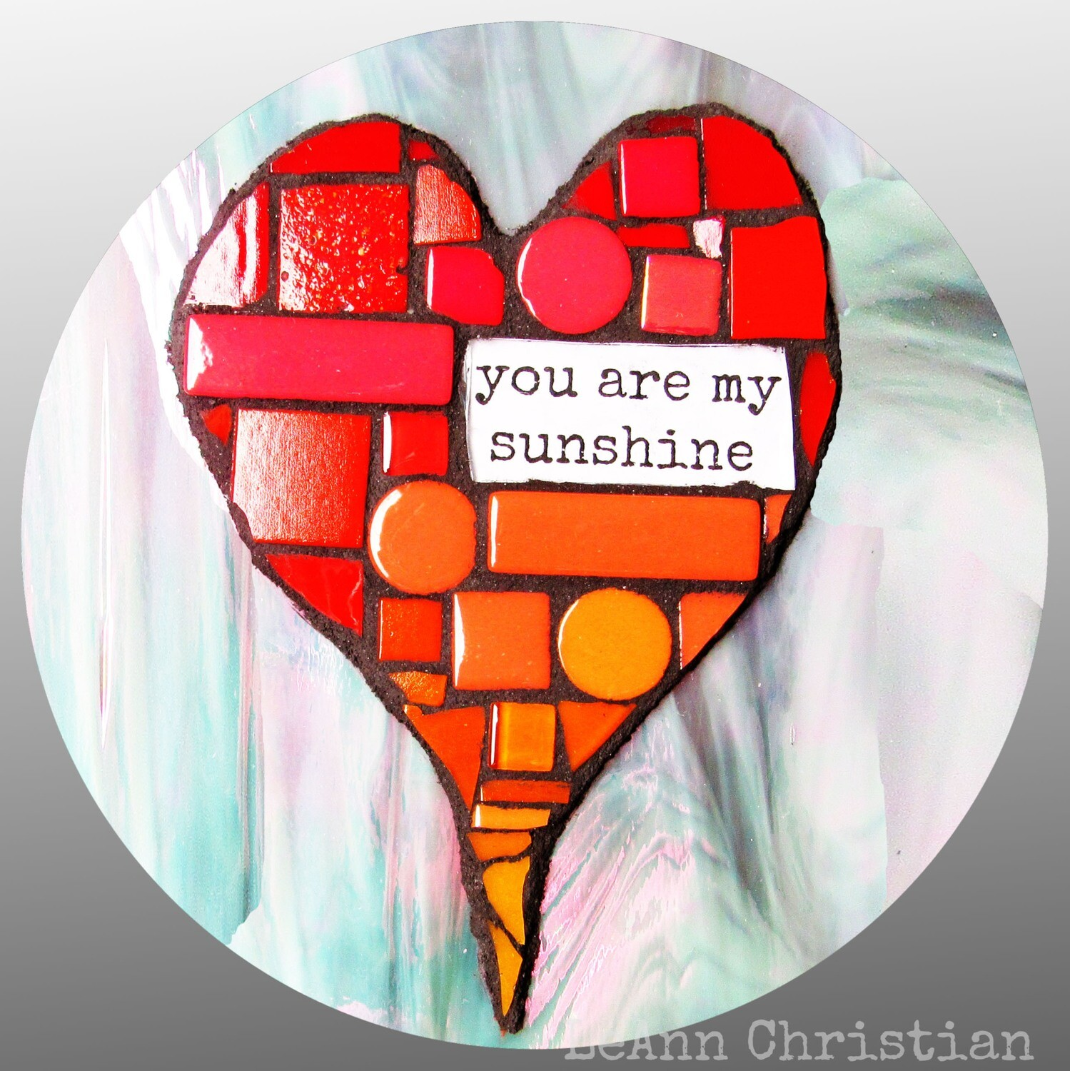 mosaic print magnets - you are my sunshine