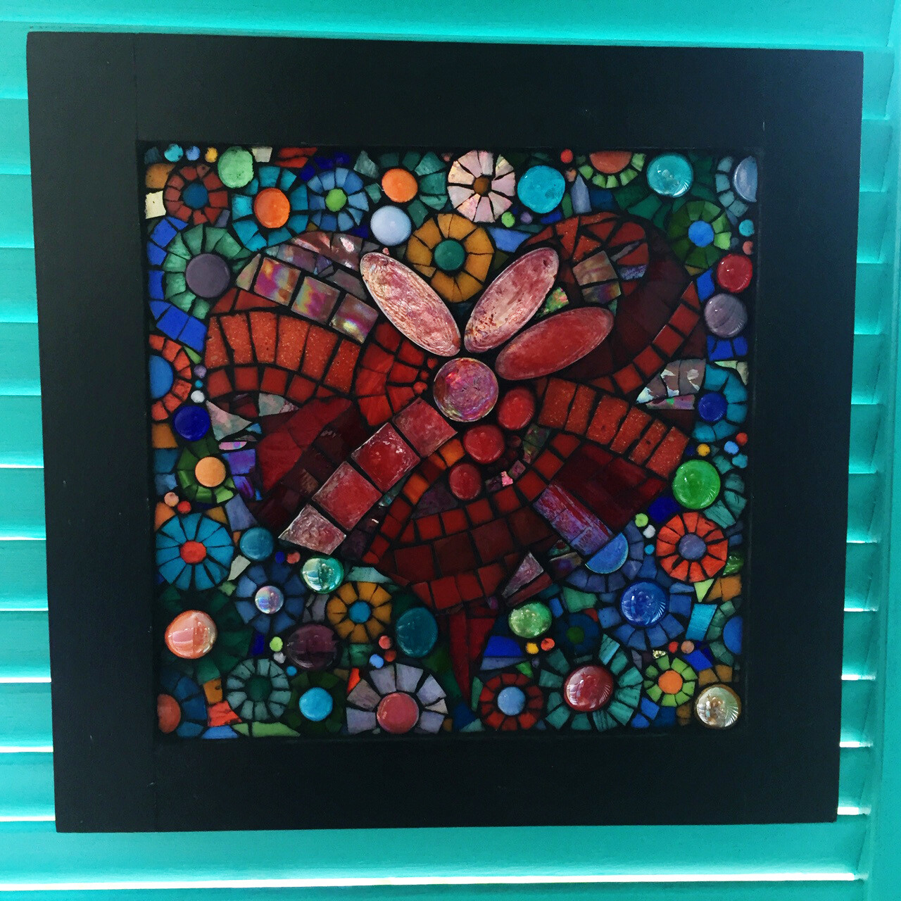 glass mosaic - love