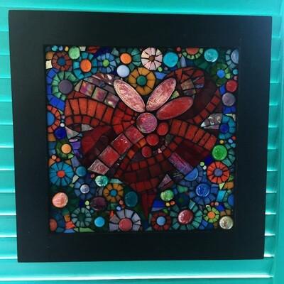 glass mosaic - love
