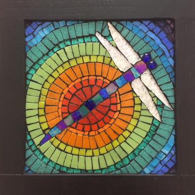 glass mosaic - dragonfly