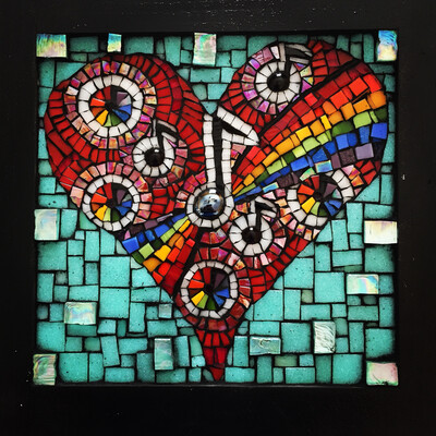 glass mosaic - rainbow connection