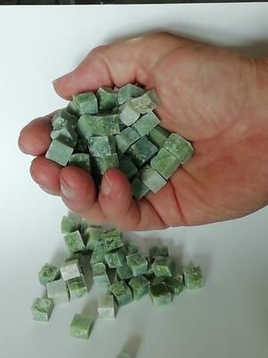 SALE Verde Cina - Hand cut light green marble tesserae 500 gram bags