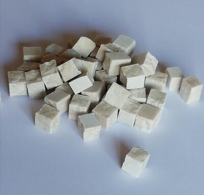 SALE Botticino 10mm - 15 mm Hand cut off-white marble tesserae 500 gram bags