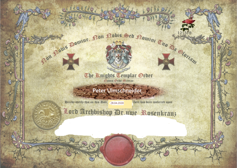 Ablaß-Zertifikat, 49,95 €